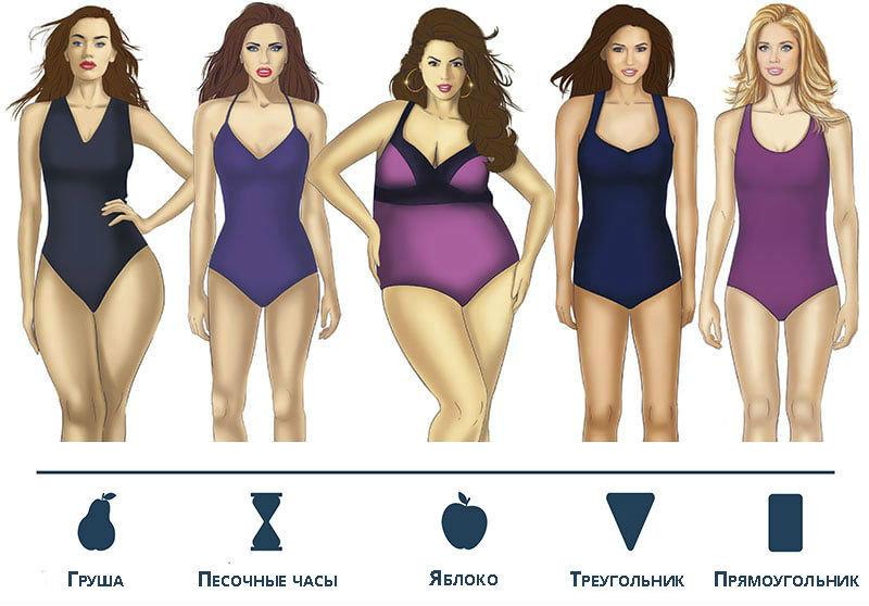 Какие бывают виды и разновидности фигур у женщин и девушек