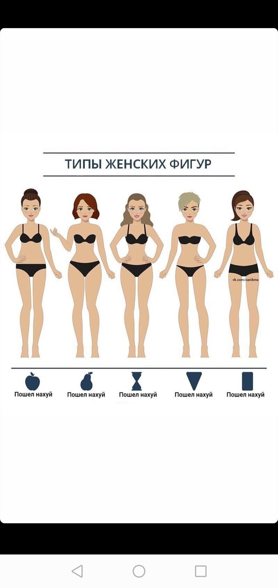 Как определить тип фигуры у женщин? (фото и картинки)