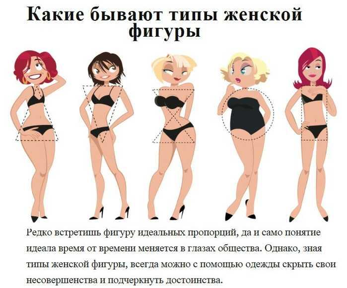 Типы фигуры у женщин: геометрия красоты